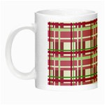 Pink plaid pattern Night Luminous Mugs