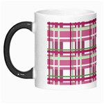 Pink plaid pattern Morph Mugs