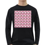 Pink plaid pattern Long Sleeve Dark T-Shirts
