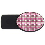 Pink plaid pattern USB Flash Drive Oval (4 GB)