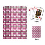 Pink plaid pattern Playing Card