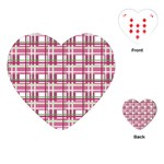 Pink plaid pattern Playing Cards (Heart)