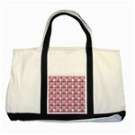Pink plaid pattern Two Tone Tote Bag