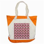 Pink plaid pattern Accent Tote Bag