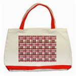 Pink plaid pattern Classic Tote Bag (Red)