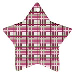 Pink plaid pattern Star Ornament (Two Sides)