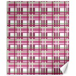 Pink plaid pattern Canvas 8  x 10