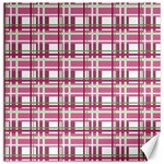 Pink plaid pattern Canvas 12  x 12
