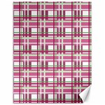 Pink plaid pattern Canvas 12  x 16
