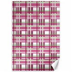 Pink plaid pattern Canvas 12  x 18