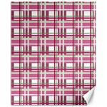 Pink plaid pattern Canvas 16  x 20