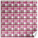 Pink plaid pattern Canvas 20  x 20