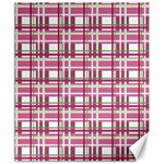 Pink plaid pattern Canvas 20  x 24