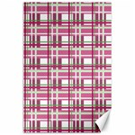 Pink plaid pattern Canvas 24  x 36