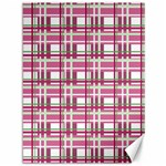 Pink plaid pattern Canvas 36  x 48