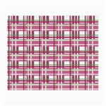 Pink plaid pattern Small Glasses Cloth (2-Side)