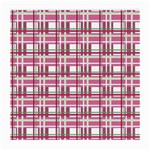 Pink plaid pattern Medium Glasses Cloth