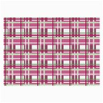 Pink plaid pattern Large Glasses Cloth (2-Side)