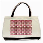 Pink plaid pattern Basic Tote Bag (Two Sides)