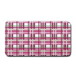 Pink plaid pattern Medium Bar Mats