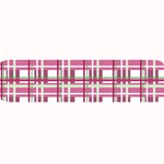 Pink plaid pattern Large Bar Mats