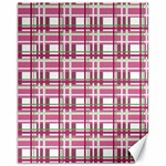 Pink plaid pattern Canvas 11  x 14