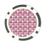 Pink plaid pattern Poker Chip Card Guards