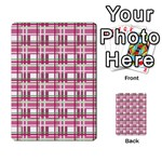 Pink plaid pattern Multi-purpose Cards (Rectangle)