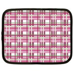 Pink plaid pattern Netbook Case (Large)