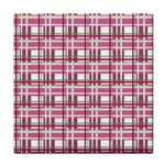 Pink plaid pattern Face Towel