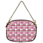 Pink plaid pattern Chain Purses (Two Sides)
