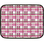 Pink plaid pattern Double Sided Fleece Blanket (Mini)