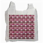 Pink plaid pattern Recycle Bag (Two Side)