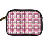 Pink plaid pattern Digital Camera Cases