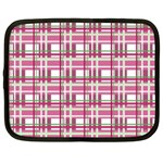 Pink plaid pattern Netbook Case (XXL)