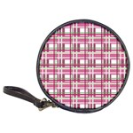 Pink plaid pattern Classic 20-CD Wallets