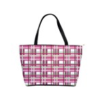 Pink plaid pattern Shoulder Handbags