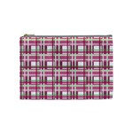 Pink plaid pattern Cosmetic Bag (Medium)