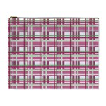 Pink plaid pattern Cosmetic Bag (XL)