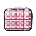 Pink plaid pattern Mini Toiletries Bags