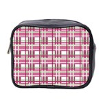 Pink plaid pattern Mini Toiletries Bag 2-Side