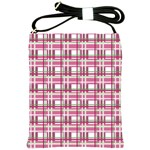 Pink plaid pattern Shoulder Sling Bags