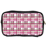 Pink plaid pattern Toiletries Bags