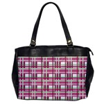 Pink plaid pattern Office Handbags