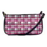 Pink plaid pattern Shoulder Clutch Bags
