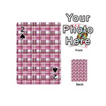 Pink plaid pattern Playing Cards 54 (Mini)