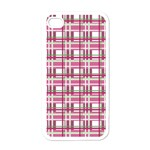 Pink plaid pattern Apple iPhone 4 Case (White)