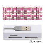 Pink plaid pattern Memory Card Reader (Stick)