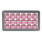 Pink plaid pattern Memory Card Reader (Mini)