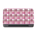 Pink plaid pattern Memory Card Reader with CF